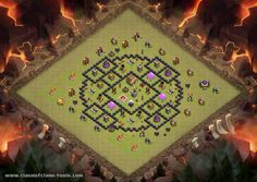 clash of clans th8 war base spread out
