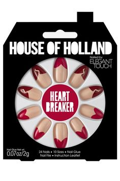 Elegant Touch House of Holland Nail Kit in Classy Nude channels the British fashion label's playful personality, and is inspired by the London girl's attitude, culture and mindset. Duvet Day, Pretty Nail Art, House Of Holland, Nail Accessories, Nail Polish Collection, Glue On Nails, Nail Wraps, Press On Nails, Stiletto Nails