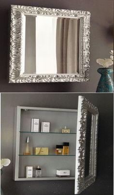 Pimp je badkamer, schep ruimte met een kast en spiegel. Leuk om zelf te maken! http://www.barokspiegel.com/