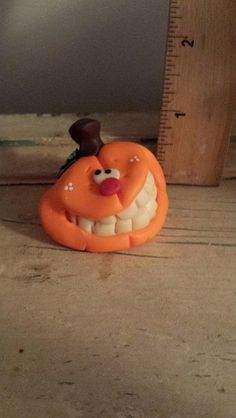 Polymer clay pumpkin Handmade sculpted polymer by Claykeepsakes