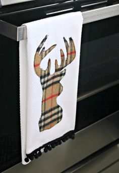 https://flic.kr/p/dNswC6 | Reindeer Applique Tea Towel