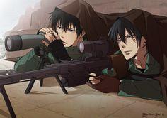 Kogami et Ginoza Anime Nerd, Anime Manga, Anime Guys, Anime Military, Military Art, Ginoza Nobuchika, Anime Gangster, Rivamika, Psycho Pass