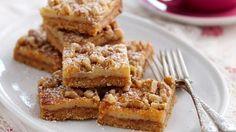 Caramel walnut slice