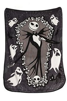 The Nightmare Before Christmas Jack Coffin Throw