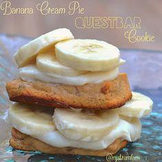 Protein Treats by Nicolette: Banana Cream Pie Questbar Cookie