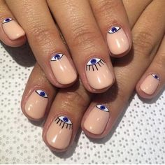 Evil eye manicure #nailsdone #inspiration #treatwell #evileye #bbloggers #manucure #pinterest