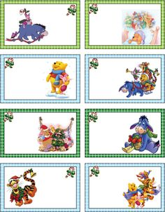 Las Recortables de Veva e Isabel: Winnie -The -Pooh and Friends. Diy Christmas Tags, Christmas Tags Printable, Mickey Christmas, Free Printable Gift Tags, Christmas Crafts For Kids, Summer Crafts, Winnie The Pooh Christmas, Winnie The Pooh Friends, Hello Kitty Gifts