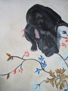 """Perfectly Captures the French Bulldog Attitude and Personality Saatchi Art Artist Robin Shatz; Painting, """"French Bulldog"""" #art"""