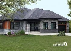 maison Modern Bungalow Exterior, Modern Bungalow House, Dream House Exterior, Exterior House Colors, Simple House Design, Modern House Design, Cottage House Plans, Cottage Homes, African House