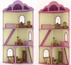 Resultado de imagen para casa de muñecas de carton