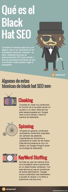 Hola: Una infografía sobre qué es el Black Hat SEO. Vía Un saludo