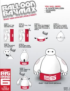 Next, a Make your own Baymax. Care and lollipops not included.