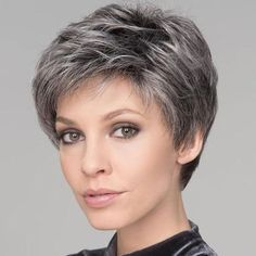 KAMI 081 Layered Short Straight Cropped Wigs with Fringe for Women – KAMI WIGS Short Pixie Haircuts, Pixie Hairstyles, Short Hairstyles For Women, Hairstyles 2016, Spring Hairstyles, Easy Hairstyles, Short Grey Hair, Short Hair With Layers, Black Hair