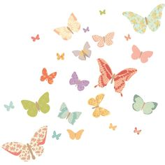 Butterflies – Girly fabric stickers from Mae click on image to purchase