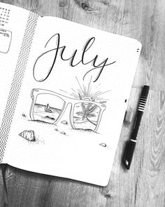 summer are finally here ‍♀️ who has a similar theme?July and summer are finally here ‍♀️ who has a similar theme? Learn how to Letter September in 5 different ways. This is a great tutorial for beginners in lettering Bullet Journal Cover Page, Bullet Journal 2019, Bullet Journal Ideas Pages, Bullet Journal Inspiration, Journal Pages, Journals, Bellet Journal, Creative Journal, Filofax