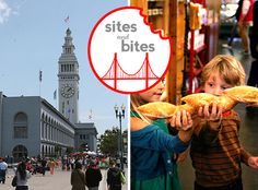 The Ferry Building where you can find tons of stalls and shops of delicious artisan food, sweets and cookware. San Fransisco