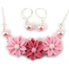 Pink Daisy Necklace Pink Flower Necklace, Pink FlowerJewelry, Pink... (482.400 IDR) ❤ liked on Polyvore featuring jewelry, necklaces, pink flower necklace, blossom necklace, flower jewellery, pink jewelry and daisy flower jewelry