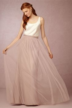 Louise Tulle Skirt from @BHLDN...comes in 4 colors, we could each wear diff but have same top? $220