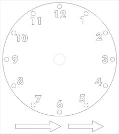 Template for clock with moveable hour and minute hand laminate kartondan saat yapm iin hazr karton saat ablonu pronofoot35fo Image collections