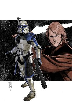 Star Warts - Commanders and Generals: Rex and Anakin by Tom Hodges
