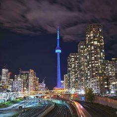 At   night   Toronto Canada