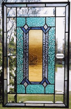 A stained glass panel - would love this as my front door!                                                                                                                                                                                 More