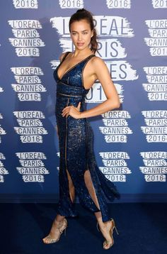 Irina-shayk-l-oreal-party cannes-film-festival 2016 Irina Shayk, Celebrity Red Carpet, Celebrity Style, Beach Bunny Swimwear, The Blonde Salad, Evening Dresses, Formal Dresses, Victoria Secret Fashion, Russian Models