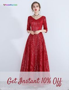 Color : Burgundy Embellishment : Sequins, Sash Fabric : Sequined, Satin Fabric Occasion : Formal Evening, Prom The post V Neck Half Sleeve Backless Long Dress appeared first on Power Day Sale. Maxi Outfits, Maxi Dresses, Sleeve Dresses, Maxi Skirts, Christmas Party Outfits, Valentines Outfits, Evening Outfits, Evening Dresses, Homecoming Dresses
