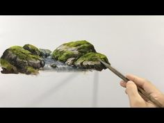 Paint Basic Rocks by Stream Acrylic Painting Rocks, Acrylic Painting Techniques, Painting Videos, Art Techniques, Painting & Drawing, Acrylic Paintings, Eye Drawing Tutorials, Art Tutorials, Painting Tutorials