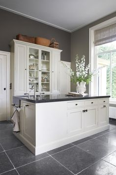 New Kitchen Cabinets Painted Grey Countertops Islands Ideas Grey Kitchens, Grey Countertops, New Kitchen, Home Kitchens, Farmhouse Kitchen, New Kitchen Cabinets, Kitchen Renovation, Kitchen Color Dark Cabinets, Kitchen Cabinets Painted Grey