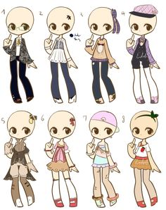 Outfit Adopts Batch 8 :NO. 1 OPEn: by LukasB-adopts.deviantart.com on…