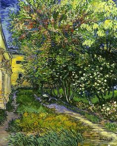 The Garden of the Asylum at Saint-Remy - Vincent van Gogh 1889