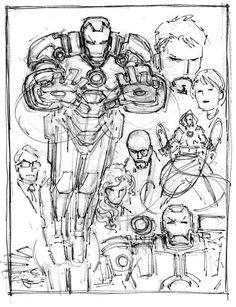 Marvel Comic Universe, Comics Universe, Marvel Comics, Marvel Dc, Comic Book Artists, Comic Books Art, Comic Art, Iron Man Art, John Romita Jr