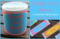 Bubble Gum Consonant Blends Game from Boy Mama Teacher Mama . A playful way to teach children about consonant blends.