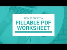 Worksheets are great, but what's even better are fillable worksheets. Learn how to create a fillable pdf worksheet for FREE! (No Adobe programs required) Computer Tips, Computer Programming, Office Programs, Learn Something New Everyday, Technology Hacks, Geek Squad, Microsoft Excel, Music Education, Work From Home Jobs
