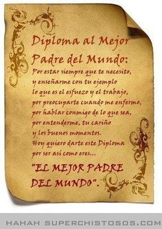 padre poema in Fathers Day Poems, Fathers Day Crafts, Happy Fathers Day, Diy Gifts, Best Gifts, I Love My Dad, Dad Day, Funny Comments, Ideas Para Fiestas