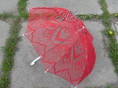 """Вязаный зонт """"Искушение"""" Crochet umbrella"""