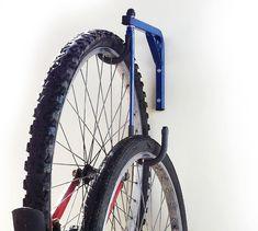 2 Bike Bicycle Wall Mounted Hanging Rack Space Saving by JarpenArt