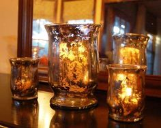 Como fazer pintura degrade em vasos de vidro (texo em ingles) - Fica muito bonito e 'e muito facil! Vou tentar!!
