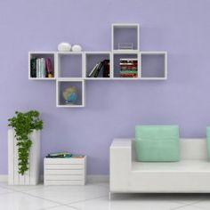 Cubi da parete spessore 2 cm Cuba, Bookcase, Shelves, Home Decor, Powder Room, Tv Unit Design, Shelving, Decoration Home, Room Decor