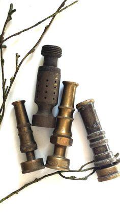 Vintage Brass Water Spray Hose Nozzles by FilthyRichDesigns, $33.00
