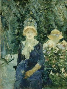 Woman in a Garden by Berthe Morisot (Art Institute of Chicago, Chicago, IL, USA)