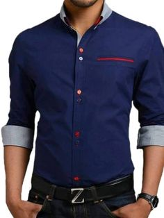 Navy Blue Casual Shirt