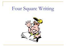 Four square writing slide share presentation 3rd Grade Writing, Fifth Grade, Third Grade, Common Core Ela, Common Core Standards, Four Square Writing, Chemistry 101, Teaching Writing, Teaching Ideas