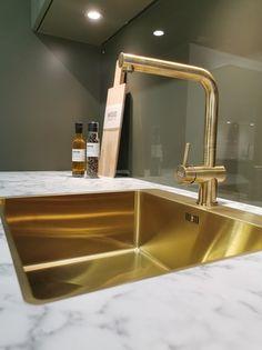 AUBO Trend Nordic kjøkken New Kitchen Inspiration, Ikea Kitchen Remodel, Interior Design Kitchen, Backsplash, Sink, Vanity, Furniture, Home Decor, Minimalism