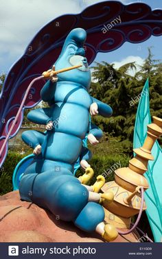 Model of the Hookah-Smoking Caterpillar from Alice's Adventures in Wonderland, in Alice's Curious