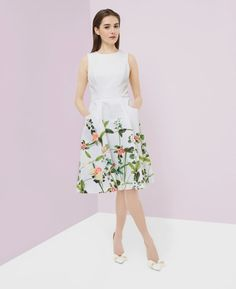 Secret Trellis print dress