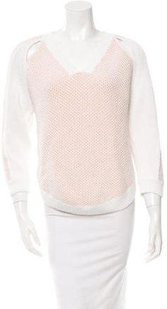 Phillip Lim Patterned V-Neck Sweater Women's V Neck Sweaters, 3.1 Phillip Lim, Just For You, Stylish, Tops, Fashion, Women's Blouses, Moda, Fashion Styles