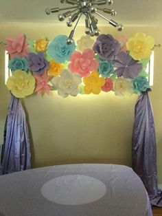 Hand Crafted Paper Flower Board. For Cake Table Background. UpliftingSurprise@gmail.com  https://m.facebook.com/profile.php?id=1642158762737688