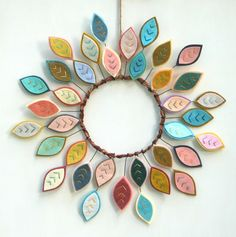 Hey, I found this really awesome Etsy listing at https://www.etsy.com/listing/252367110/spring-wreath-with-felt-leaves-felt